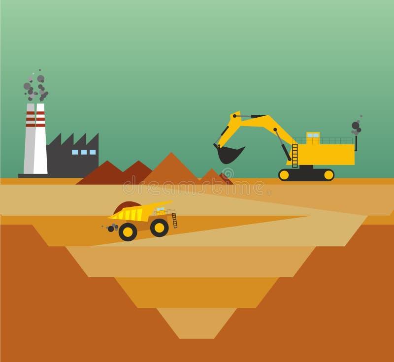mining stock de ilustración