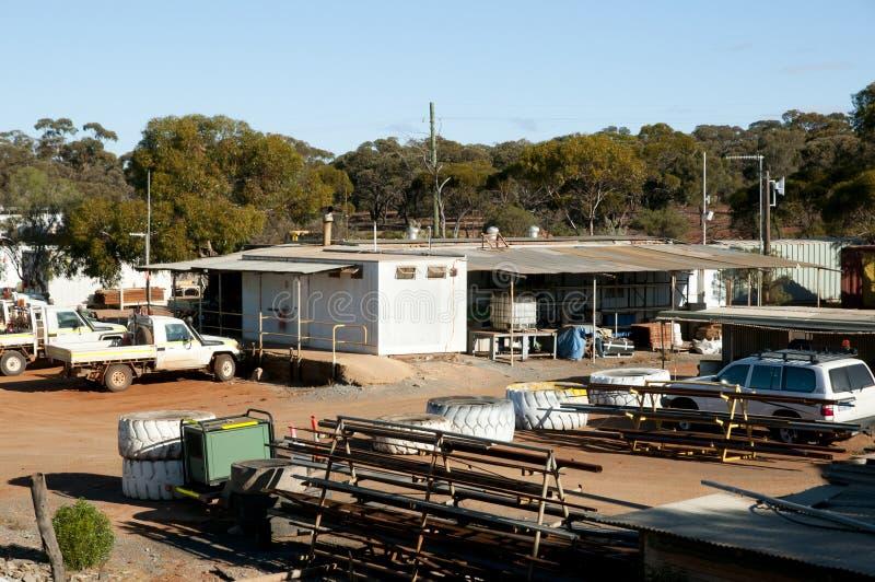 Mining Camp - Australia stock photography