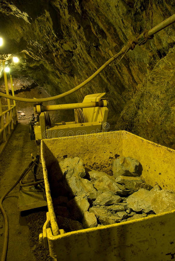 Download Mining Car And Tunnel Underground Stock Image - Image: 12354107