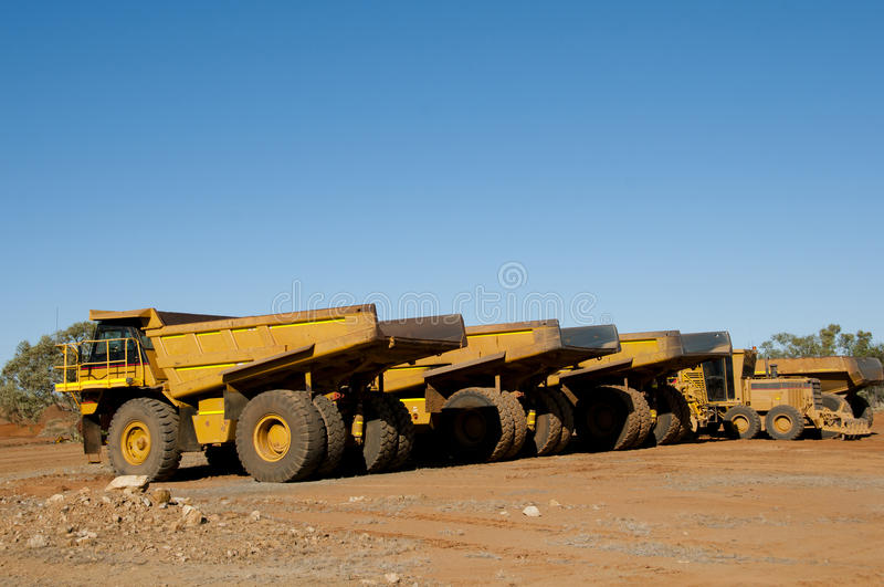 Mining Dump Truck. In Australia royalty free stock photography