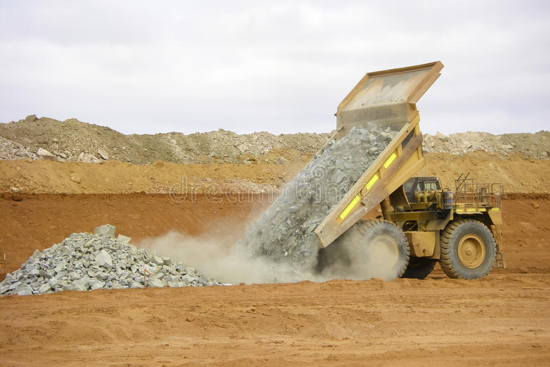 Mining Dump Truck royalty free stock photos