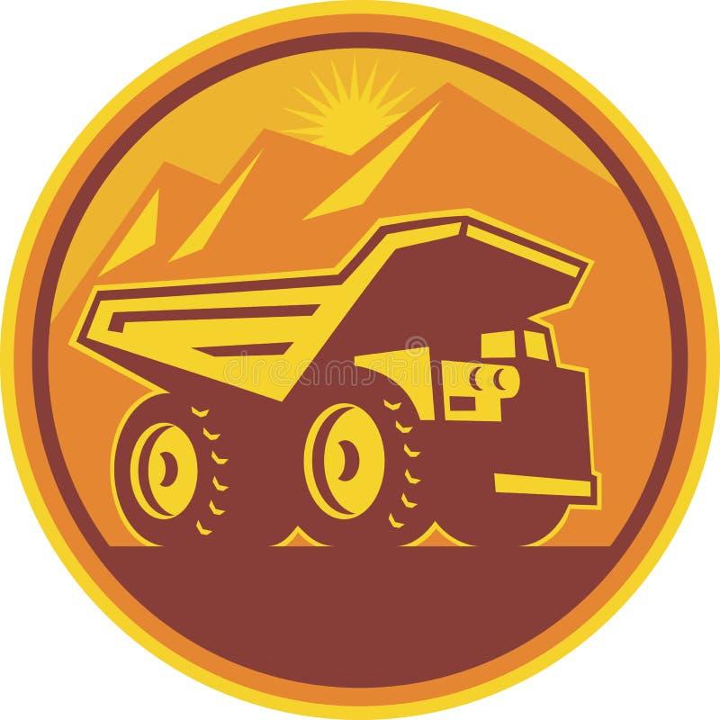 Download Mining Dump Truck Retro stock vector. Image of mining - 25163541