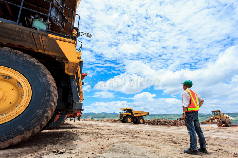 Mining Engineer royalty free stock images