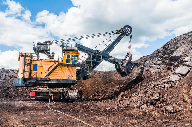 Mining Equipment or Mining Machinery, Bulldozer, wheel loader, s stock images