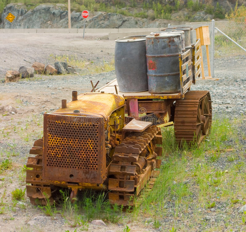 Download Mining Equipment At An Outdoor Museum In Yellowknife Stock Photo - Image of grass, grassy: 60254472