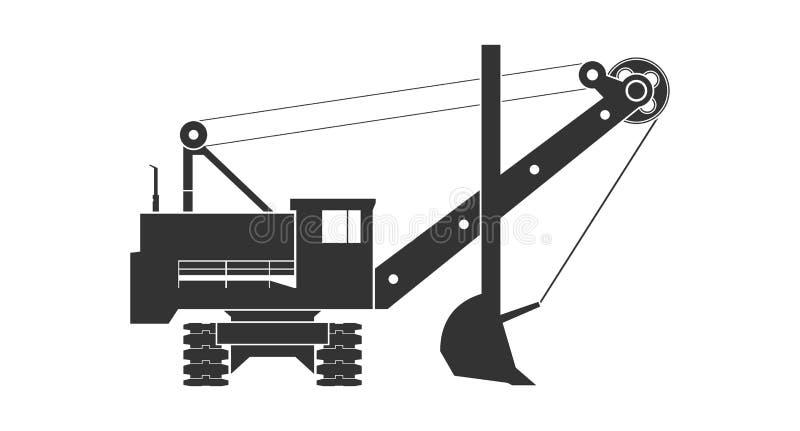 Mining excavator icon royalty free stock image