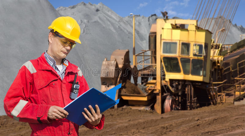 Mining foreman royalty free stock photo