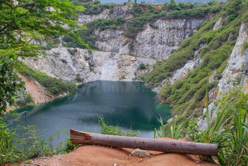 Mining and Grand Canal of Grand Canyon CHONBURI, THAILAND - December 25, 2019 : Scenery of Grand Canyon Kiri, Chonburi Province,. Thailand royalty free stock photo