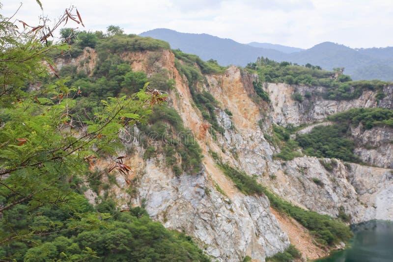 Mining and Grand Canal of Grand Canyon CHONBURI, THAILAND - December 25, 2019 : Scenery of Grand Canyon Kiri, Chonburi Province,. Thailand royalty free stock photography