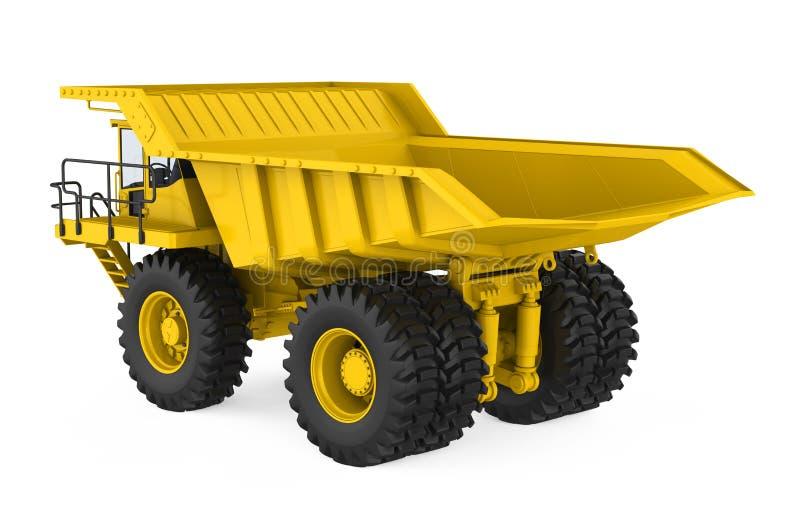 Mining Haul Truck Isolated. On white background. 3D render vector illustration