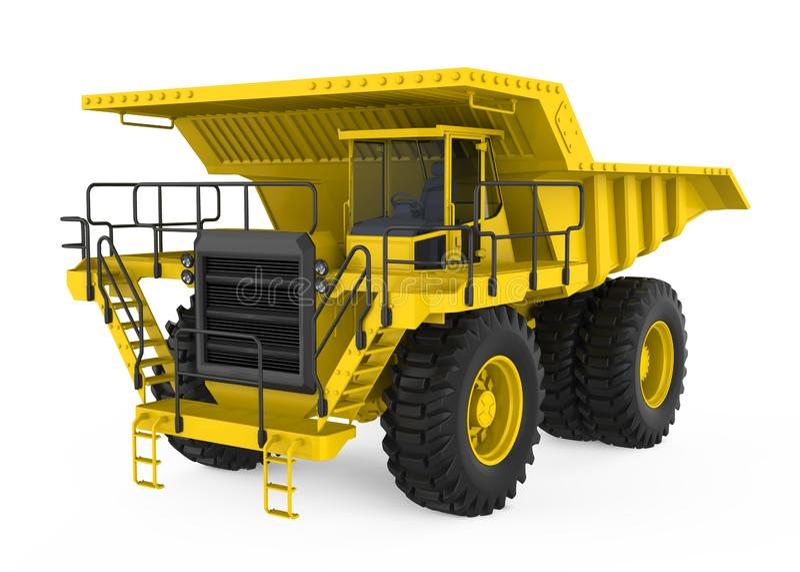 Mining Haul Truck Isolated. On white background. 3D render stock illustration