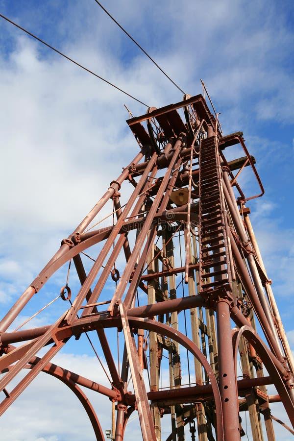 Mining Headframe. Old mining headframe, Cobar, Australia royalty free stock image