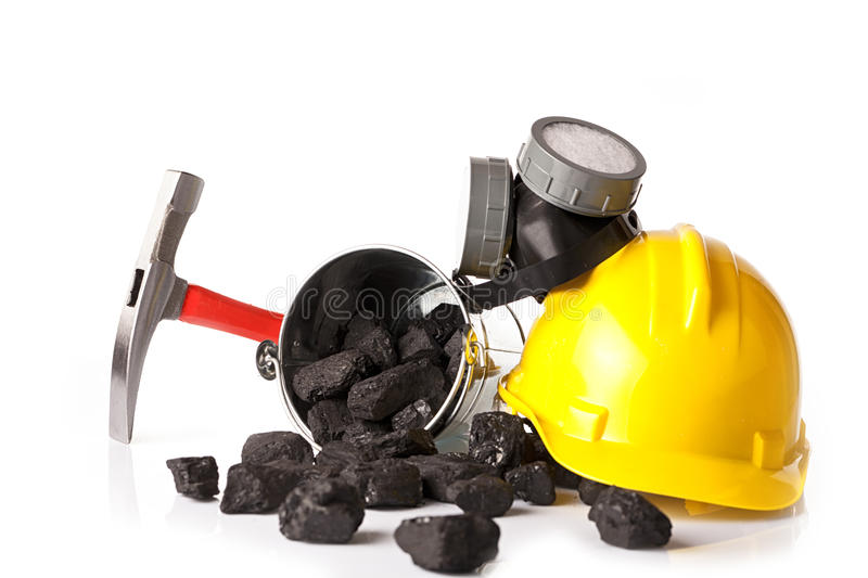 Mining industry, miner`s tools royalty free stock photo