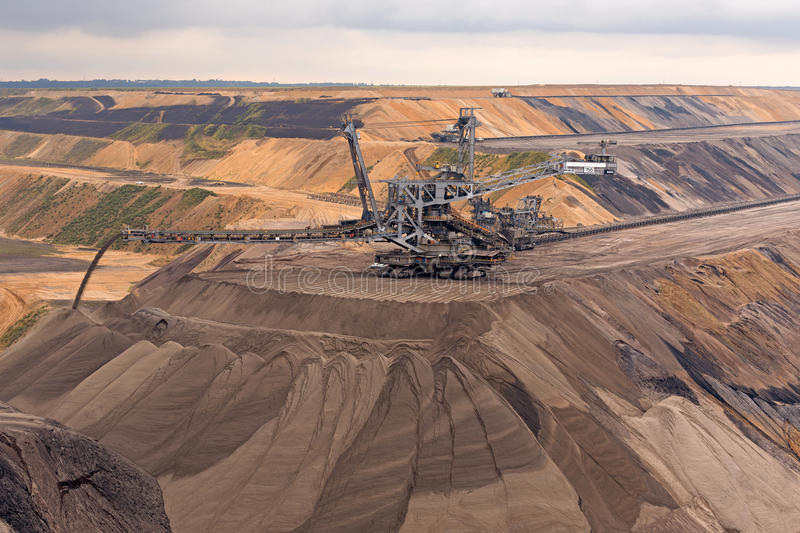 Mining for Lignite stock photography