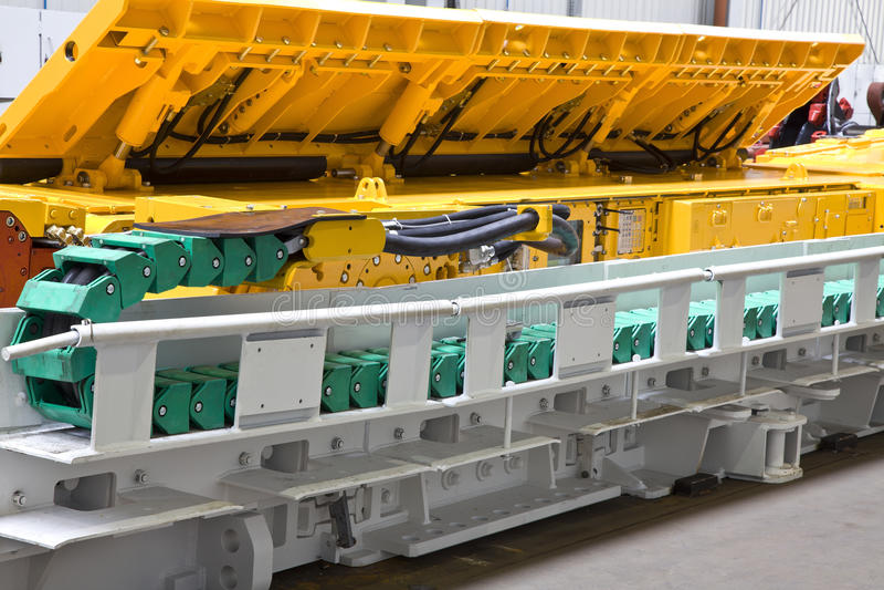 Mining machine. Great mining drill bit of coal digger stock photos