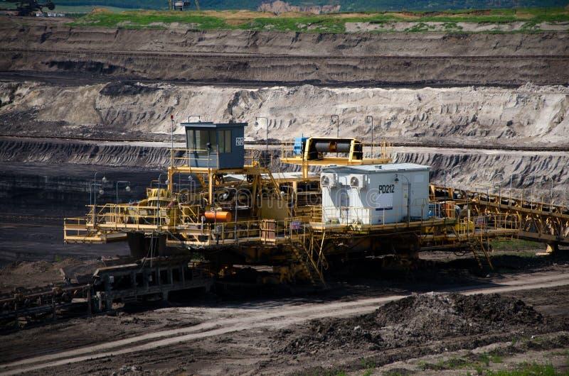 Mining machine stock photos