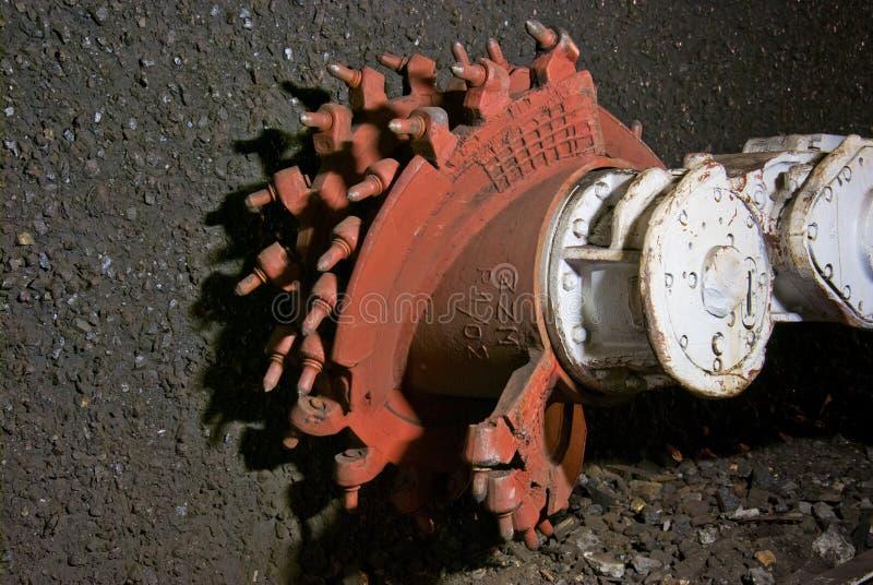 Mining machine closeup. Mining machine, modern harvester in coal mine stock images