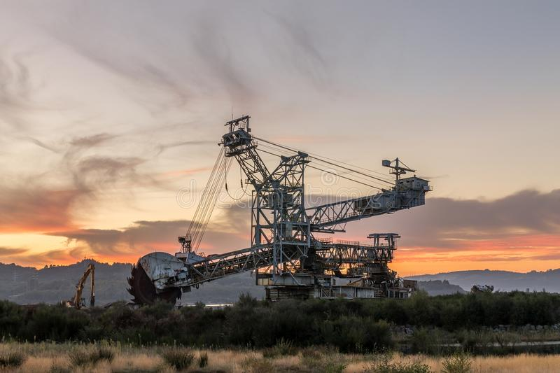 Mining machinery royalty free stock photography