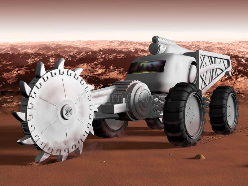 Download Mining on Mars stock illustration. Image of explore, planet - 33415295