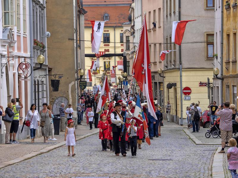 JIHLAVA CZECH REPUBLIC JUNE 22Th. 2019, The Mining Parade, June 22th. 20 Th, Jihlava, Czech Republic royalty free stock image