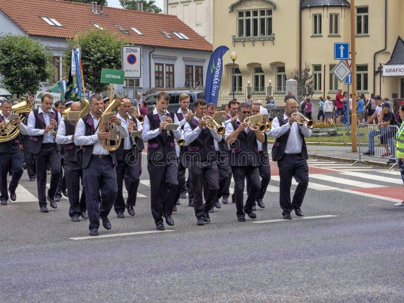 JIHLAVA CZECH REPUBLIC JUNE 22Th. 2019, The Mining Parade, June 22th. 20 Th, Jihlava, Czech Republic. The Mining Parade, June 22th. 20 Th, Jihlava, Czech stock image