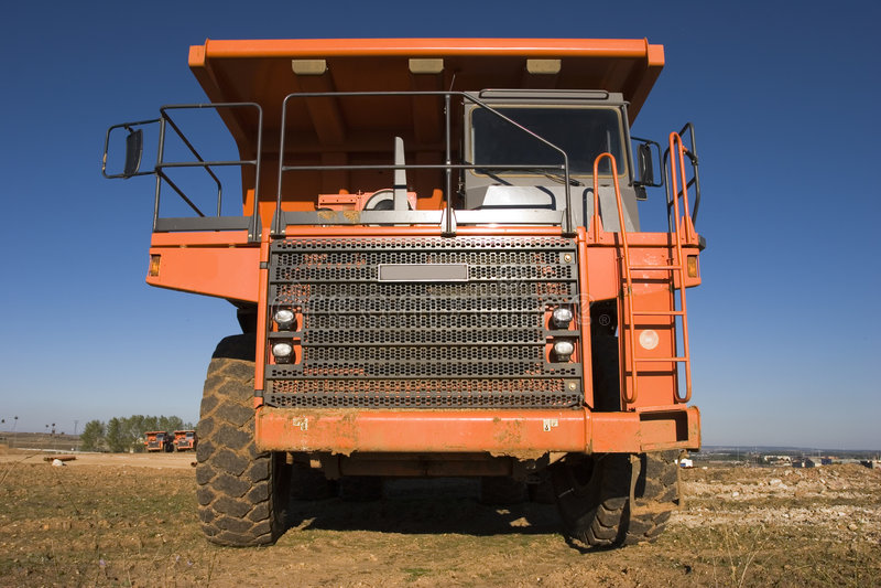 Mining truck stock photography