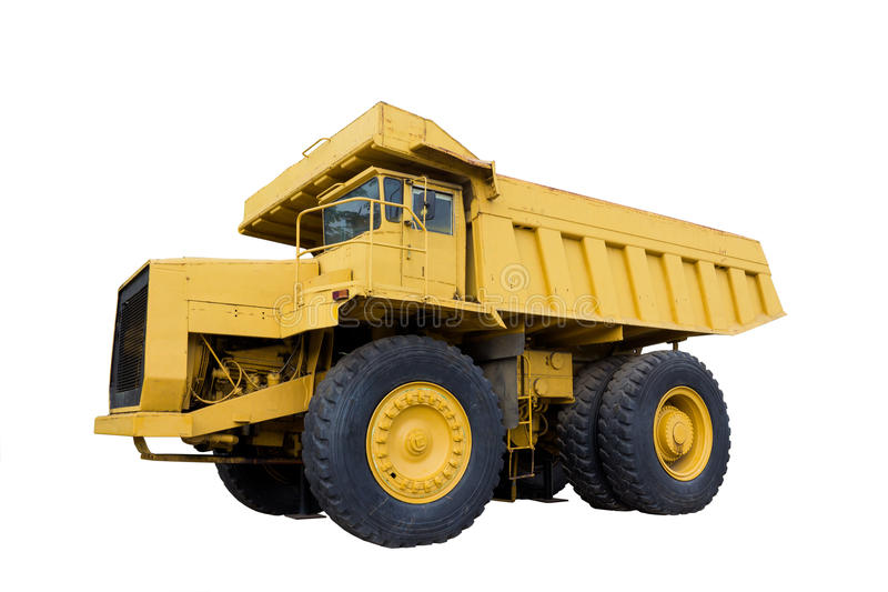 Mining truck isolated stock images
