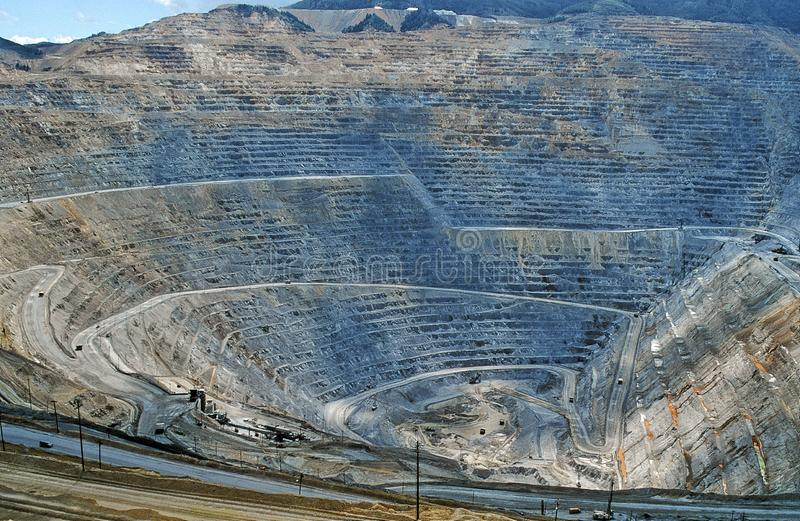 Mining in Utah - Hughes coppermine near to Salt Lake City stock photography