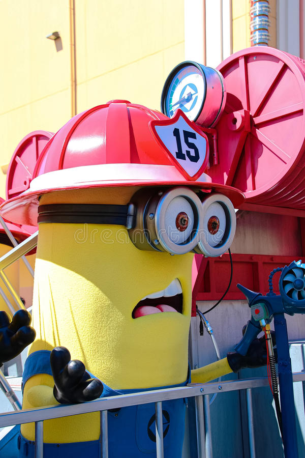 Minion Mascot from Despicable Me. OSAKA, JAPAN - Apr 26 2017: Minion Mascot from Despicable Me in Universal Studios japan stock photography