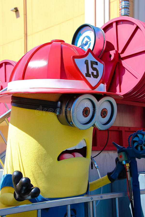 Minion Mascot from Despicable Me. OSAKA, JAPAN - Apr 26 2017: Minion Mascot from Despicable Me in Universal Studios japan stock photo