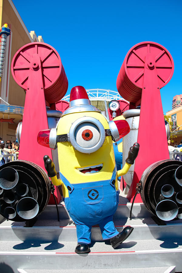 Minion Mascot from Despicable Me. OSAKA, JAPAN - Apr 26 2017: Minion Mascot from Despicable Me in Universal Studios japan royalty free stock images