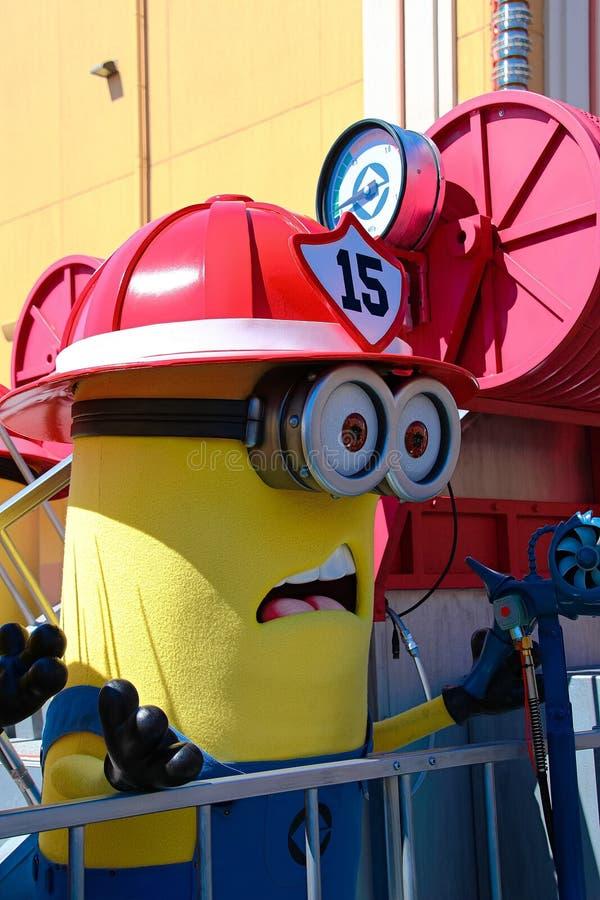 Minion Mascot from Despicable Me. OSAKA, JAPAN - Apr 26 2017: Minion Mascot from Despicable Me in Universal Studios japan royalty free stock photos