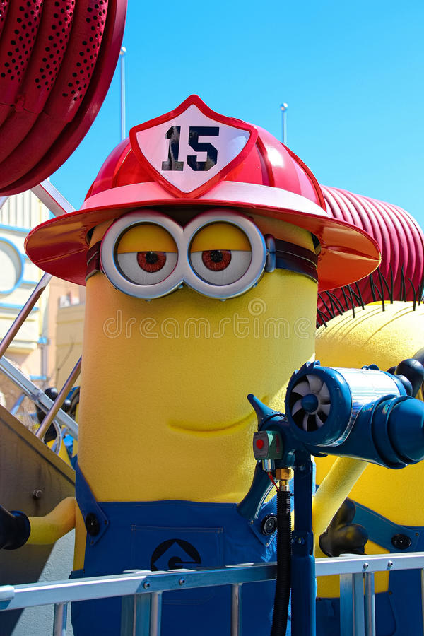 Minion Mascot from Despicable Me. OSAKA, JAPAN - Apr 26 2017: Minion Mascot from Despicable Me in Universal Studios japan stock images