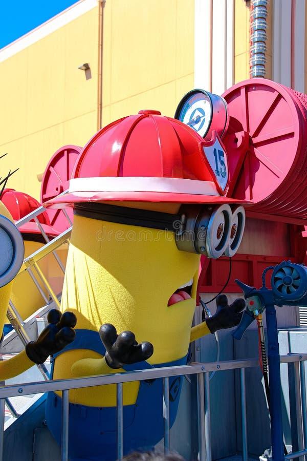 Minion Mascot from Despicable Me. OSAKA, JAPAN - Apr 26 2017: Minion Mascot from Despicable Me in Universal Studios japan royalty free stock photo