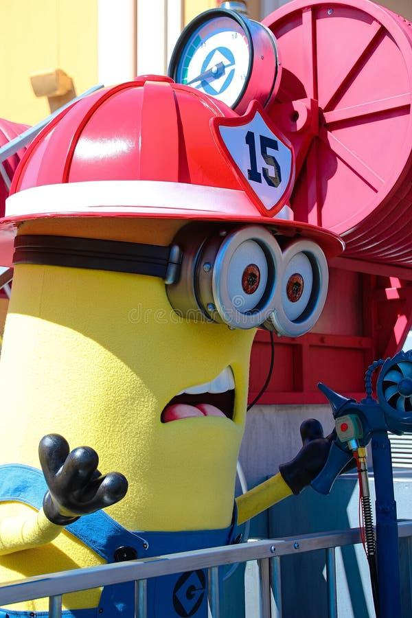 Minion Mascot from Despicable Me. OSAKA, JAPAN - Apr 26 2017: Minion Mascot from Despicable Me in Universal Studios japan stock photos