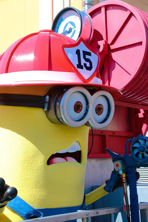Minion Mascot. OSAKA, JAPAN - Apr 26 2017: Minion Mascot from Despicable Me in Universal Studios japan royalty free stock photography