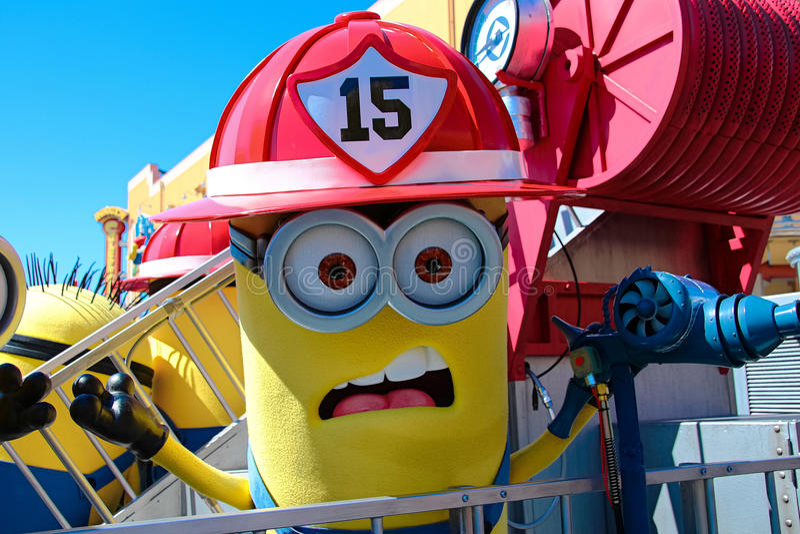 Minion Mascot. OSAKA, JAPAN - Apr 26 2017: Minion Mascot from Despicable Me in Universal Studios japan stock photo