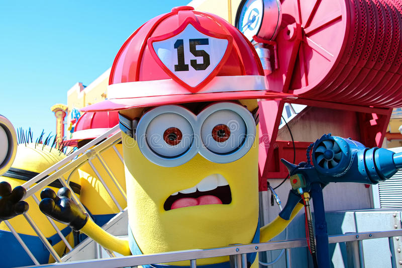 Minion Mascot. OSAKA, JAPAN - Apr 26 2017: Minion Mascot from Despicable Me in Universal Studios japan stock photography