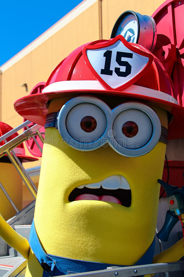 Minion Mascot. OSAKA, JAPAN - Apr 26 2017: Minion Mascot from Despicable Me in Universal Studios japan stock images
