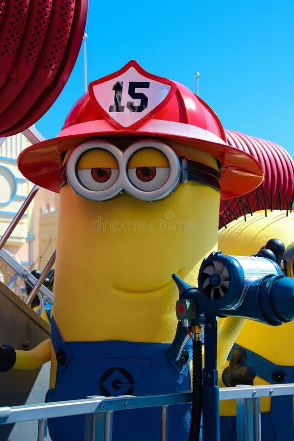 Minion Mascot. OSAKA, JAPAN - Apr 26 2017: Minion Mascot from Despicable Me in Universal Studios japan stock image