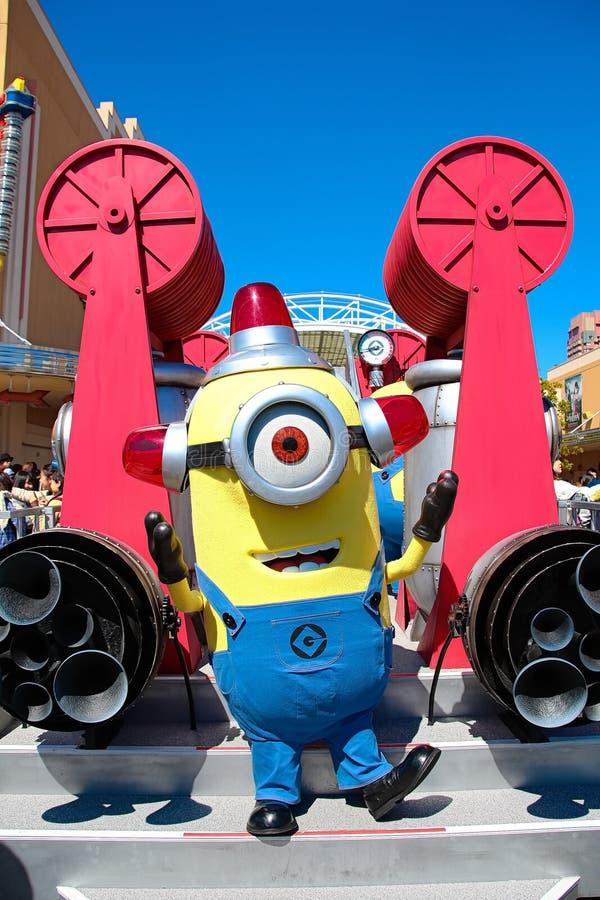 Minion Mascot. OSAKA, JAPAN - Apr 26 2017: Minion Mascot from Despicable Me in Universal Studios japan royalty free stock photo