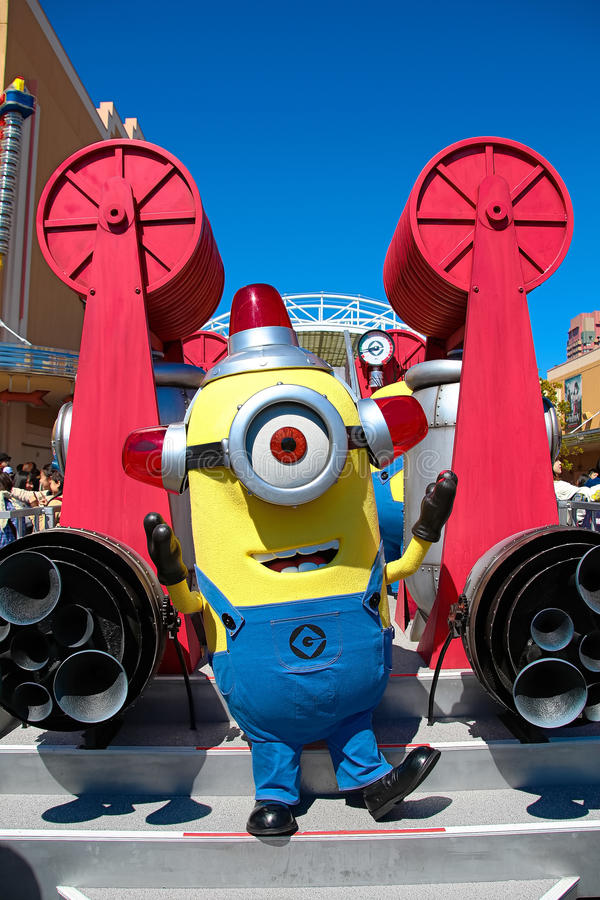 Minion Mascot. OSAKA, JAPAN - Apr 26 2017: Minion Mascot from Despicable Me in Universal Studios japan stock photos