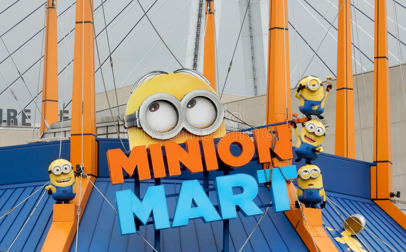 Minion at universal studio in Osaka, Japan royalty free stock images