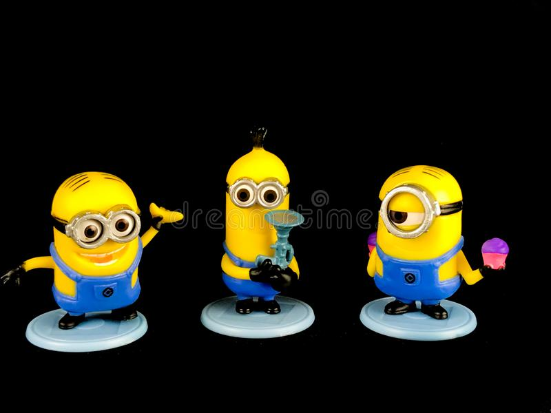 The Minions for Despicable Me Franchise stock photo
