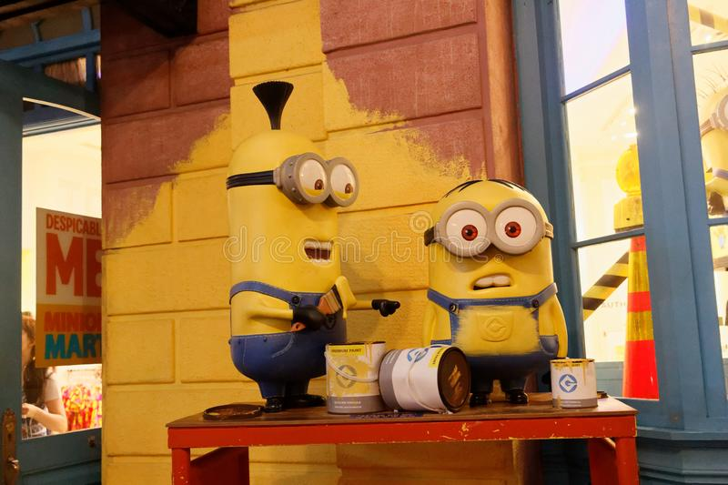 Minions Installation, Universal Studio royalty free stock photos
