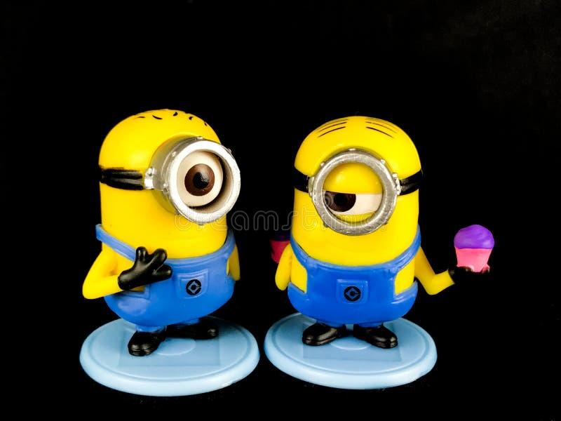 Minions Phil en Loodje, Kinderen` s Stuk speelgoed royalty-vrije stock afbeeldingen