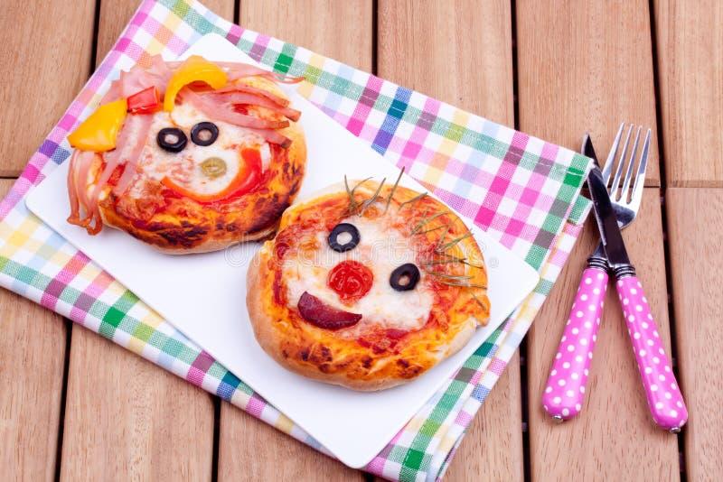 Minipizzas stockbilder