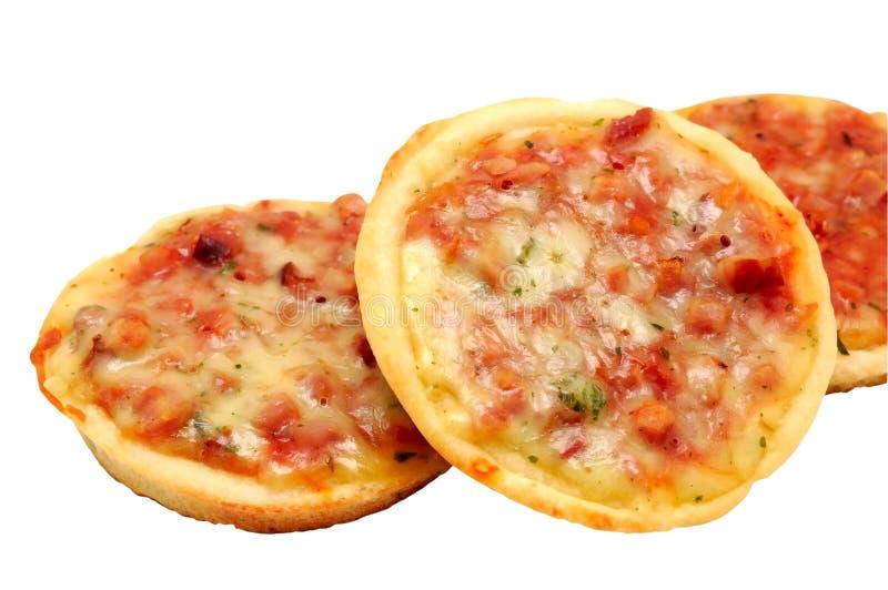 minipizzas arkivbild