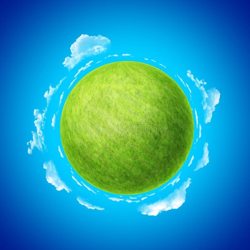 Miniplanetenkonzeptschablone. Ein von der Ansammlung. lizenzfreie abbildung