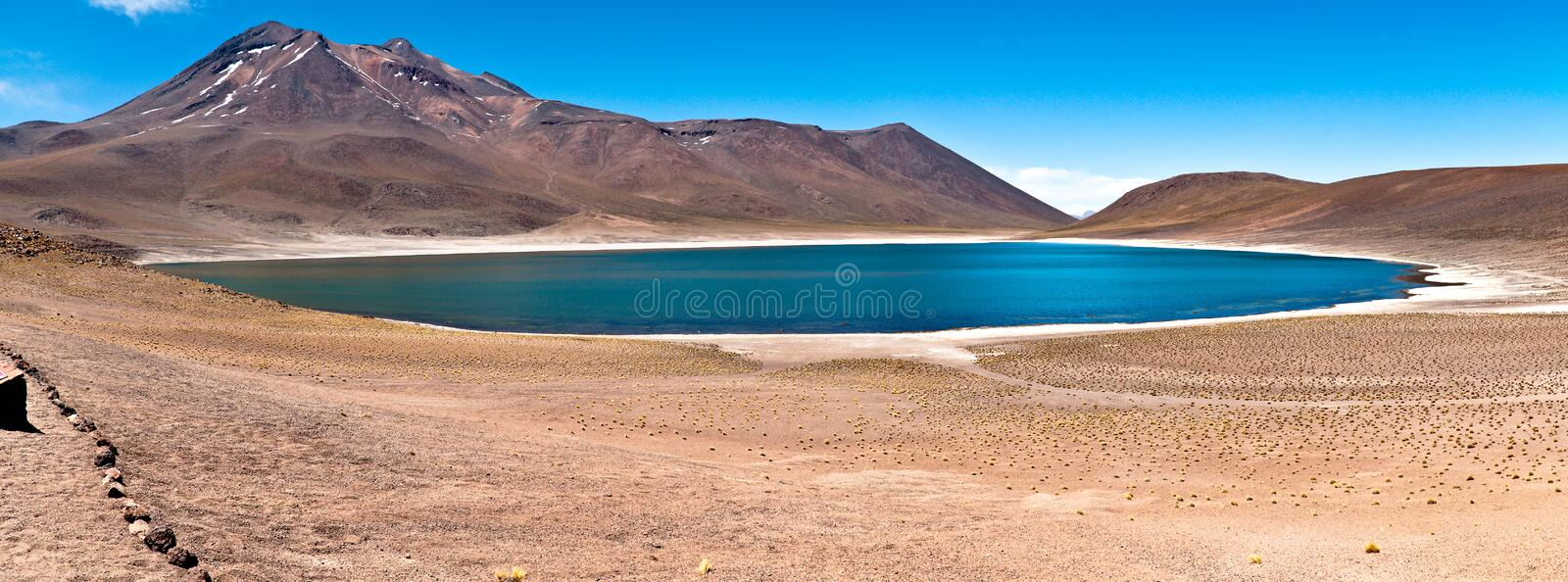 Download Minique Lake - Atacama stock photo. Image of mountain - 22086334